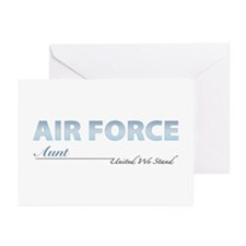 Air Force Aunt Greeting Cards (Pk of 10)