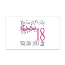 18th Birthday Gifts Car Magnet 20 x 12