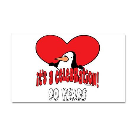 90th Celebration Car Magnet 20 x 12