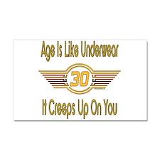 Funny 30th Birthday Car Magnet 20 x 12