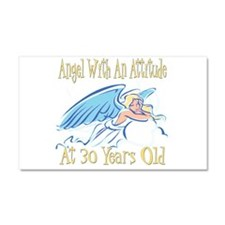Angel Attitude 30th Car Magnet 20 x 12