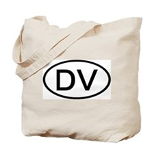 DV - Initial Oval Tote Bag
