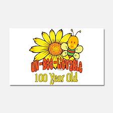 Un-Bee-Lievable 100th Car Magnet 20 x 12