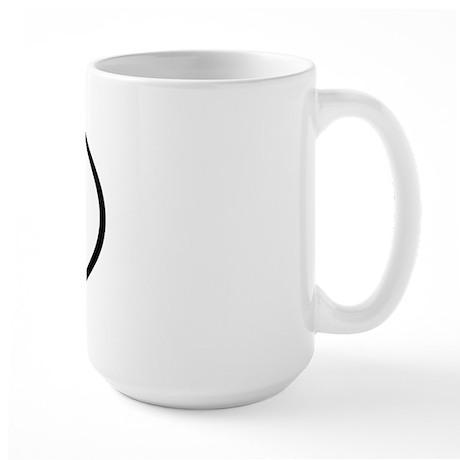 DV - Initial Oval Large Mug