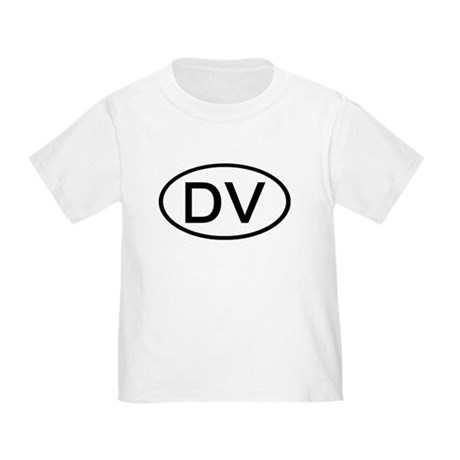 DV - Initial Oval Toddler T-Shirt