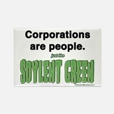 Funny Soylent green is people Rectangle Magnet