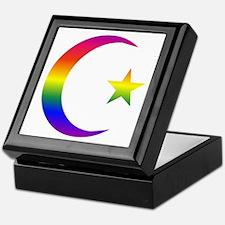 Rainbow Crescent Star Keepsake Box