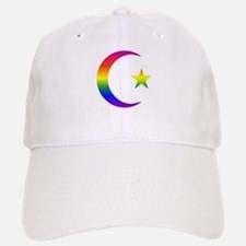 Rainbow Crescent Star Baseball Baseball Cap