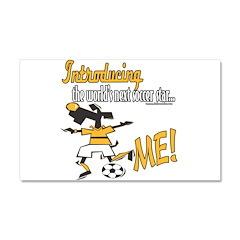 Future Soccer Player Car Magnet 20 x 12