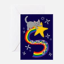 Yes We Nyan Card Greeting Cards