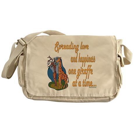 Spreading Love Giraffes Messenger Bag