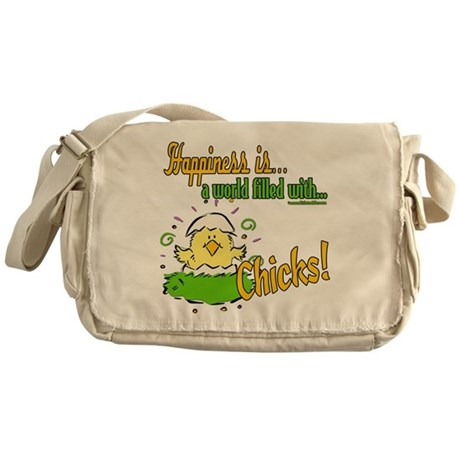 Happiness is a Chick Messenger Bag