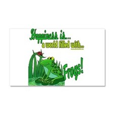 Happiness is a Frog Car Magnet 20 x 12