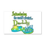 Best Daddy Ever Car Magnet 20 x 12