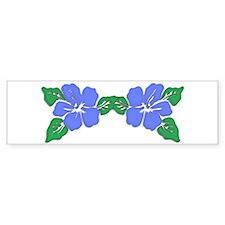 Light Blue Hawaiian Flower Bumper Bumper Sticker