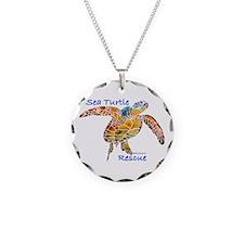 Sea Turtles Necklace Circle Charm