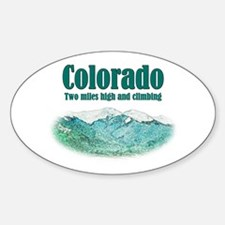Colorado 2 Miles High Decal
