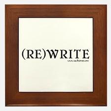 """""""(RE)WRITE"""" Framed Tile"""