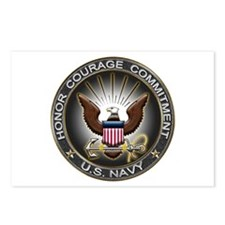 USN Eagle Honor Courage Commi Postcards (Package o