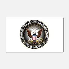 USN Eagle Honor Courage Commi Car Magnet 20 x 12