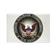 USN Eagle Honor Courage Commi Rectangle Magnet