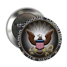 "USN Eagle Honor Courage Commi 2.25"" Button (100 pa"