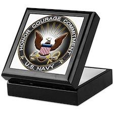 USN Eagle Honor Courage Commi Keepsake Box