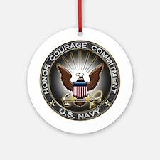 USN Eagle Honor Courage Commi Ornament (Round)