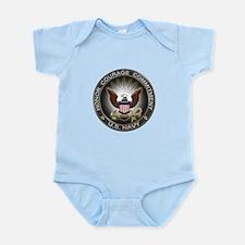 USN Eagle Honor Courage Commi Infant Bodysuit