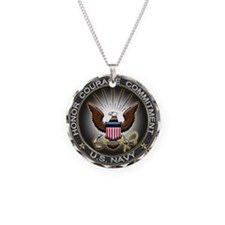 USN Eagle Honor Courage Commi Necklace