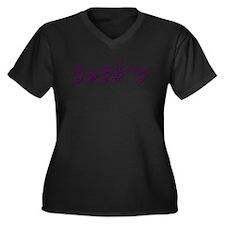 Emily-asl Women's Plus Size V-Neck Dark T-Shirt