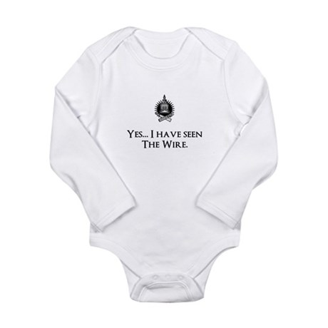 Yes, I've Seen The Wire Long Sleeve Infant Bodysui