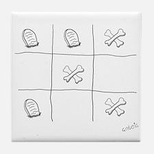 Tic Tac Toe Tile Coaster