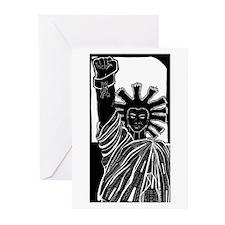 Black Liberty Blank Greeting Cards (Pk of 10)