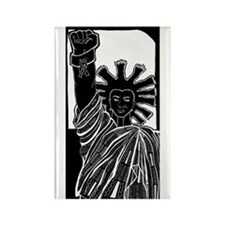 Black Liberty Rectangle Magnet