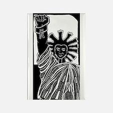 Black Liberty Rectangle Magnet