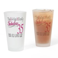 35th Birthday Gifts Drinking Glass