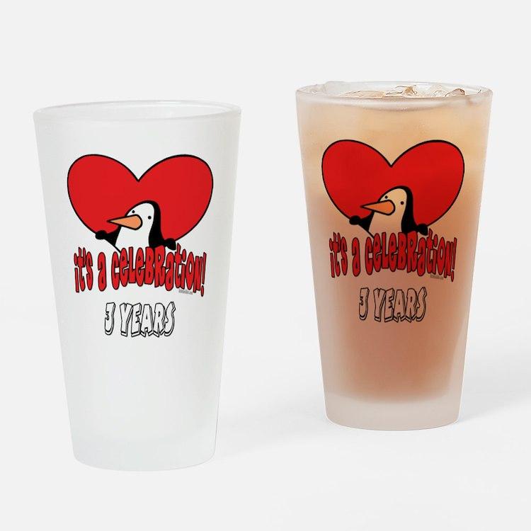 3rd Celebration Drinking Glass
