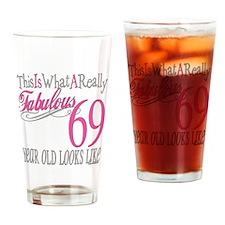 69th Birthday Gifts Drinking Glass