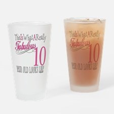 10th Birthday Gifts Drinking Glass