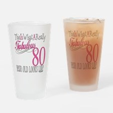 80th Birthday Gift Drinking Glass