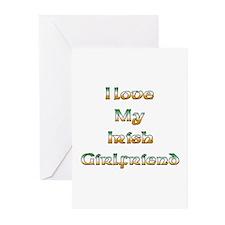I Love My Irish Girlfriend Greeting Cards (Package