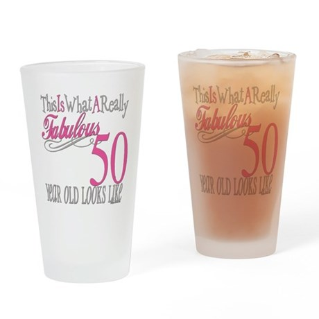 50th Birthday Gifts Drinking Glass