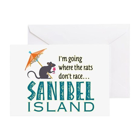Sanibel Rat Race - Greeting Card