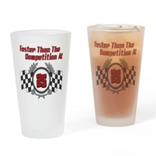 Racing At 25 Drinking Glass