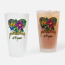 Beautiful 91st Drinking Glass