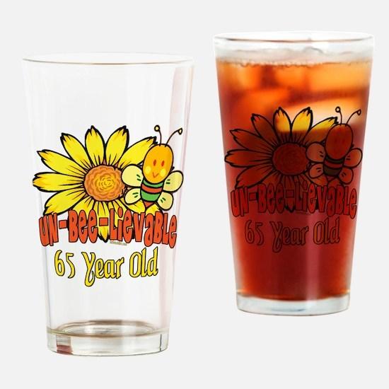 unbelievable 65th birthday Drinking Glass