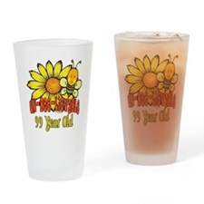 Un-Bee-Lievable 99th Drinking Glass