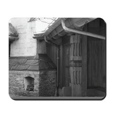 BW Fireplace Mousepad