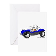 DUNE BUGGY CAT Greeting Cards (Pk of 10)